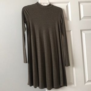 Comfy turtleneck long sleeve dress